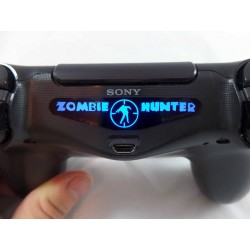 PlayStation 4 PS4 Zombie Hunter Led Light Bar Decal Sticker