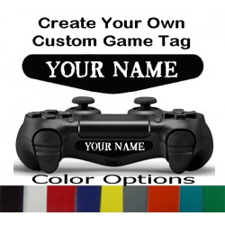 Personalized PS4 Controller Custom Text Gamer Tag Name Led Light Bar Sticker Decal