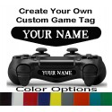 PS4 Controller Custom Text Gamer Tag Name Led Light Bar Decal Sticker