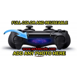 Personalized PS4 Controller Full Color Custom Removeable Light Bar Decal Sticker