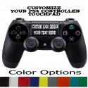 PlayStation PS4 CUSTOM TOUCHPAD Decal Sticker