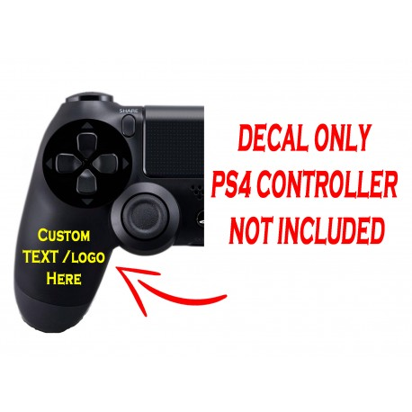Playstation 4 PS4 Controller Custom Left Handle Decal