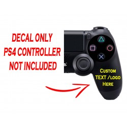 Playstation 4 PS4 Controller Custom Text Right Handle Decal