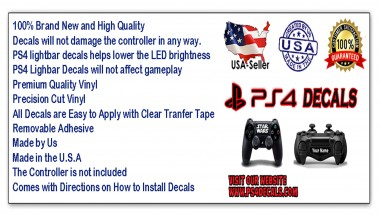 PS4 DECALS QUALITY STICKERS
